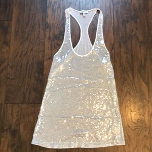 Bebe sequin Tank Top
